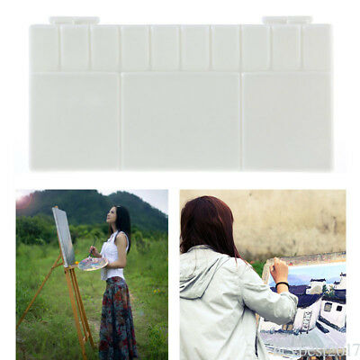 25 Grids small Watercolor Plastic Palette White Art Paint Tray for Artist he17