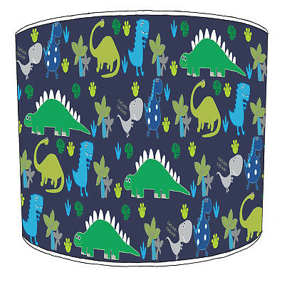 Dinosaurs Lampshades Ideal To Match Dino In The Dark Duvets Covers & Wallpaper.