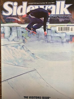Sidewalk Surfer Skateboarding Magazine Issue 58 July 2001