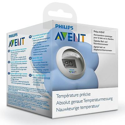 Philips AVENT Bath & Room Baby Digital Thermometer Water/Room Temperature - Blue