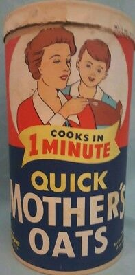 VINTAGE QUICK MOTHERS OATS OATMEAL Container