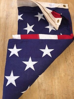 Vintage Large Patriotic USA American Flag Collegeville Flag Co Cotton