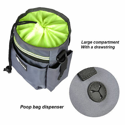 Dog treat training pouch w/ poo waste bags dispenser pocket Pet food/toys carry