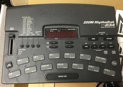 ZOOM RhythmTrak 234 Drum & Bass Machine - WITH PSU MANUAL & BOX VGC