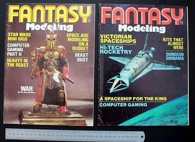 2 X Issues of Fantasy Modeling Magazine (vol 5 & 6) 1981-1982