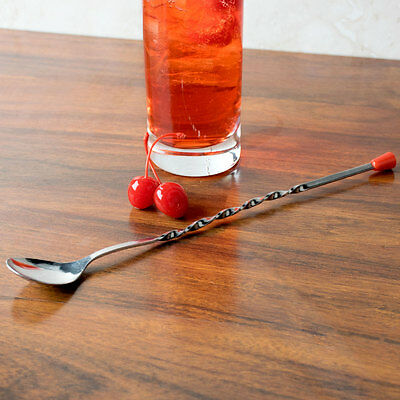"Usa Seller  Bar Spoon 11"" Red Knob Free Shipping Usa Only"