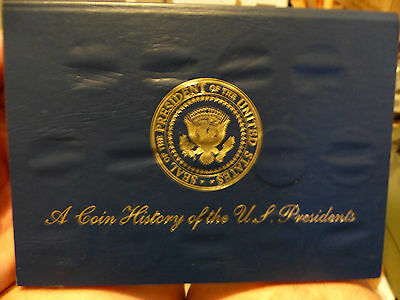Coin History of the US Presidents Brass Readers Digest 12 coins and Holder