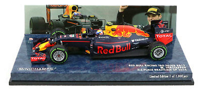 Minichamps Red Bull RB12 3rd Brazilian GP 2016 - Max Verstappen 1/43 Scale