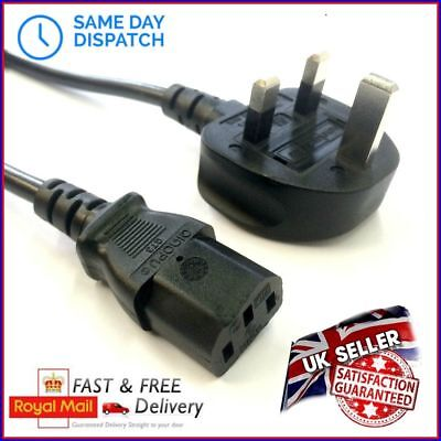 UK Computer Monitor Screen Display Power Cable Lead Cord Kettle 2m C13