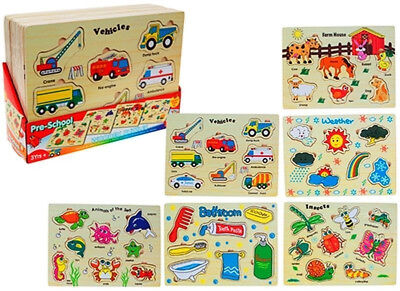 Preschool Kids Wooden Jigsaw Puzzle - Childrens Educational Learning Toy