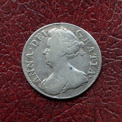 Anne 1709 silver maundy threepence