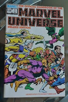 The Official Handbook of the MARVEL UNIVERSE #1 (Dec 1985, Marvel) Deluxe Ed.