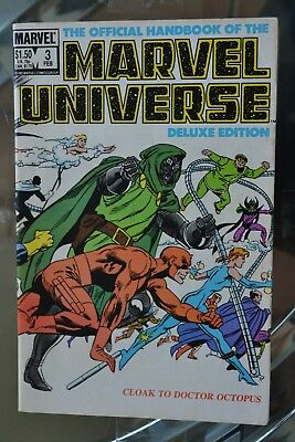 The Official Handbook of the MARVEL UNIVERSE #3 (Feb 1986, Marvel) Deluxe Ed.