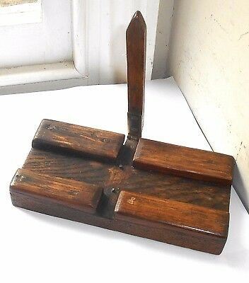 Antique Oak Treen Hand Made Tool ~ Unknown Use.