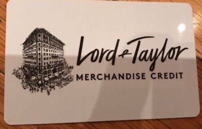 $266.74 Lord & Taylor Store Credit Card For $251.00 In Store And Online