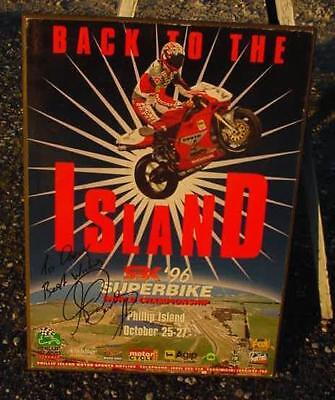 "1996 Superbike Word Championship Poster-Signed""troy Corser""ducati-Phillip Island"