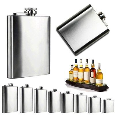 2 4 6 8 10 oz Stainless Steel Hip Liquor Whiskey Alcohol Flask Holder Cup Funnel