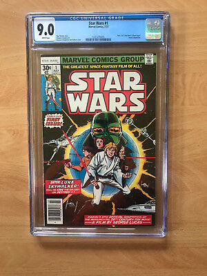 Star Wars #1 Cgc 9.0 White Pages Fresh From Cgc