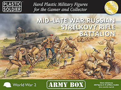 15mm Easy Assembly: Mid and Late War Russian Strelkovy Rifle Battalion Army Box
