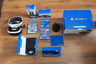 Sony Playstation VR Headset 2 Games, 2 Motion Controllers, Camera, All Cables