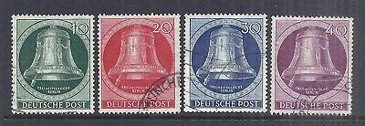 1951 Germany Occupation Berlin - SC 9N71-9N74 Liberty Bell - 1st Series Used*