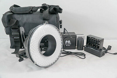 FalconEyes AC/DC Operated LED Ring Light DVR-240D with Case 6500k Portrait Macro