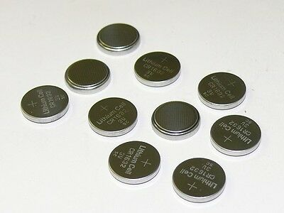 10pcs CR1632 CR 1632 3V Lithium Coin Cell Button Battery Batteries ~ USA SHIPPER