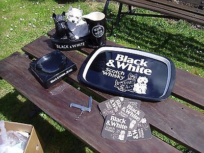 Job Lot Black & White Whiskey Advertising Set