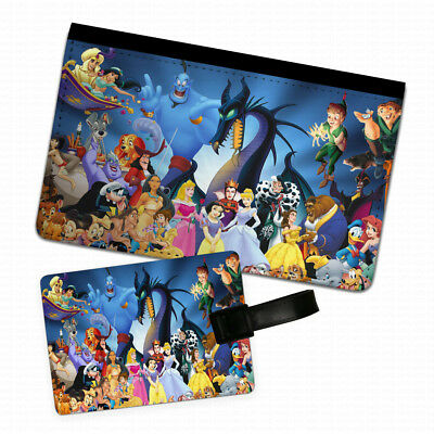 Disney Characters Passport Holder & Luggage Tag Flip Cover Case