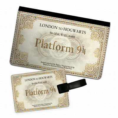 Harry Potter Train Ticket Passport Holder & Luggage Tag Flip Cover Case