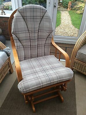 Rocking nursery breastfeeding glider chair