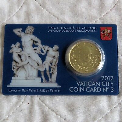 VATICAN CITY 2012 BRILLIANT UNCIRCULATED 50 CENTS - sealed coin pack 3