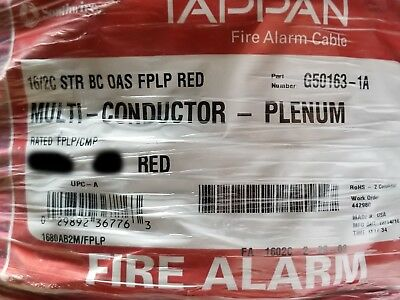 Southwire/Tappan FA-1602C-2-2S-03 16/2C Str Shield Fire Alarm Cable CMP Rd/100ft