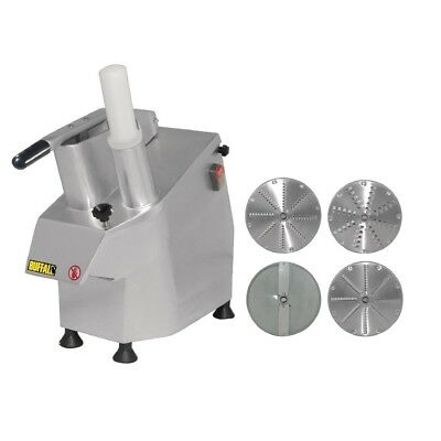 Apuro Multi Function Continuous Veg Prep Machine With 4 Discs Silver Colour