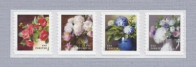 Scott #5233-36 2017 Flowers from the Garden (Coil Strip of 4) 2017 Mint NH