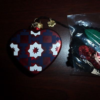 Blown Glass Christmas Tree Ornaments   Red Heart