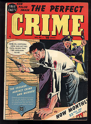 Perfect Crime (1949) #7 1st Print Bloody Cover Violent Stories Nice Art Fine