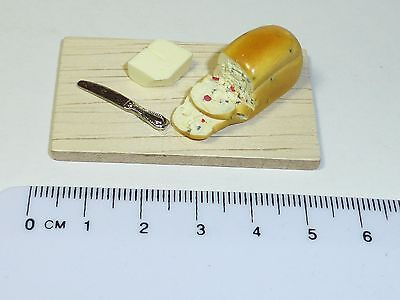 1:12 Scale  Bread and Butter b Dolls House Miniature Kitchen Accessory
