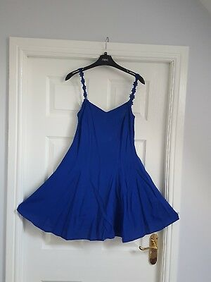 Blue summer dress size 10 new look
