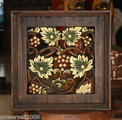 /Southeast Asia Style Hand Made Carved Wooden Grapes Wall Decoration Painting