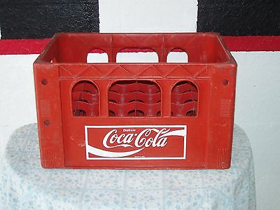 """Coca Cola Plastic Red Carrier 24 Bottles  12"""" Wide X 18"""" Long X 10.5"""" High"""
