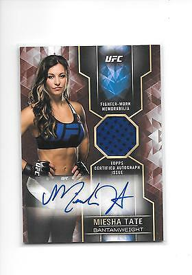 2017 Topps UFC Knockout Miesha Tate Red 2 Color Relic Auto Autograph 6/10