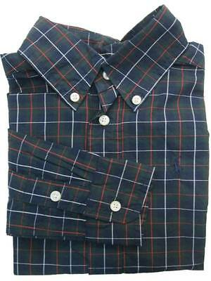 Ralph Lauren TODDLER Boys Blue Red Plaid Navy Pony Button-Down Collar Shirt NWT