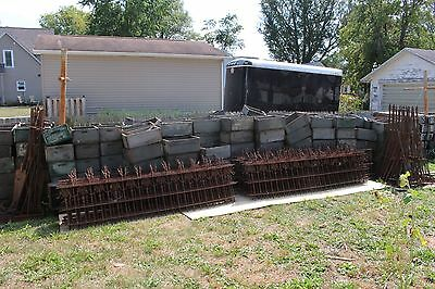 Antique Ornate 1800's Victorian Wrought Iron Fence~24 Sections~190ft~30 Posts