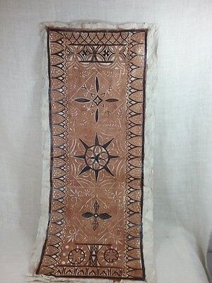 Vtg  Tapa Bark Cloth   Beautiful Polynesian Art Fabric