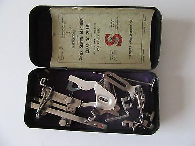 Vintage Metal Box of Singer Sewing Machine Attachments