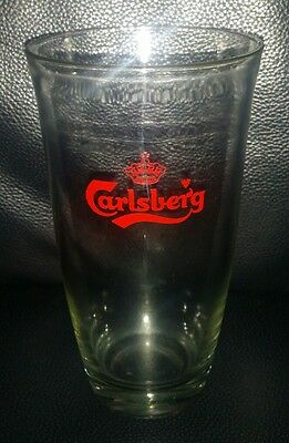 Rare Collectable Carlsberg Beer Glass Excellent Used Condition