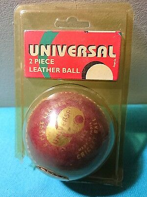 Universal 2 Piece Leather Cricket Ball 156g Made In India, Tradescene