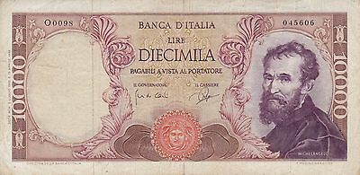 1962 Italy 10,000 Lire Banknote