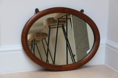 Antique Oval Wooden Mirror